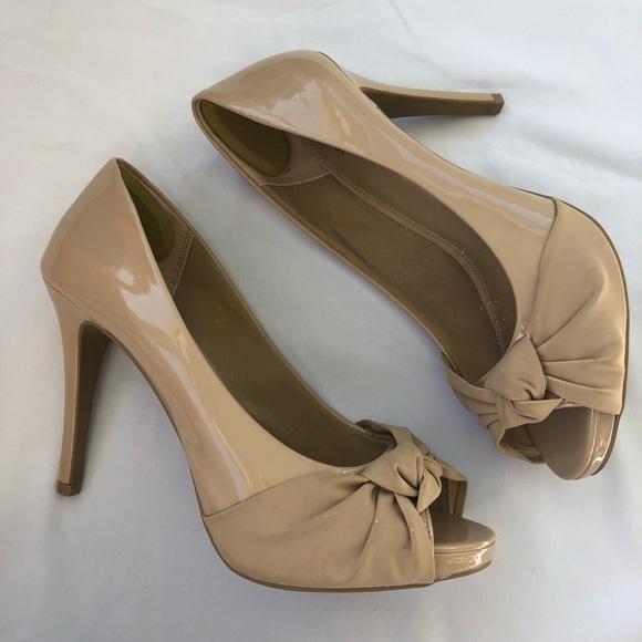 259586430c1 Fioni Shoes - Fioni Nude Peep Toe 10W Heels Pumps Shoes
